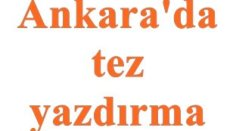 Ankarada tez yazdırma merkezi