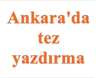 Ankarada tez yazdırma